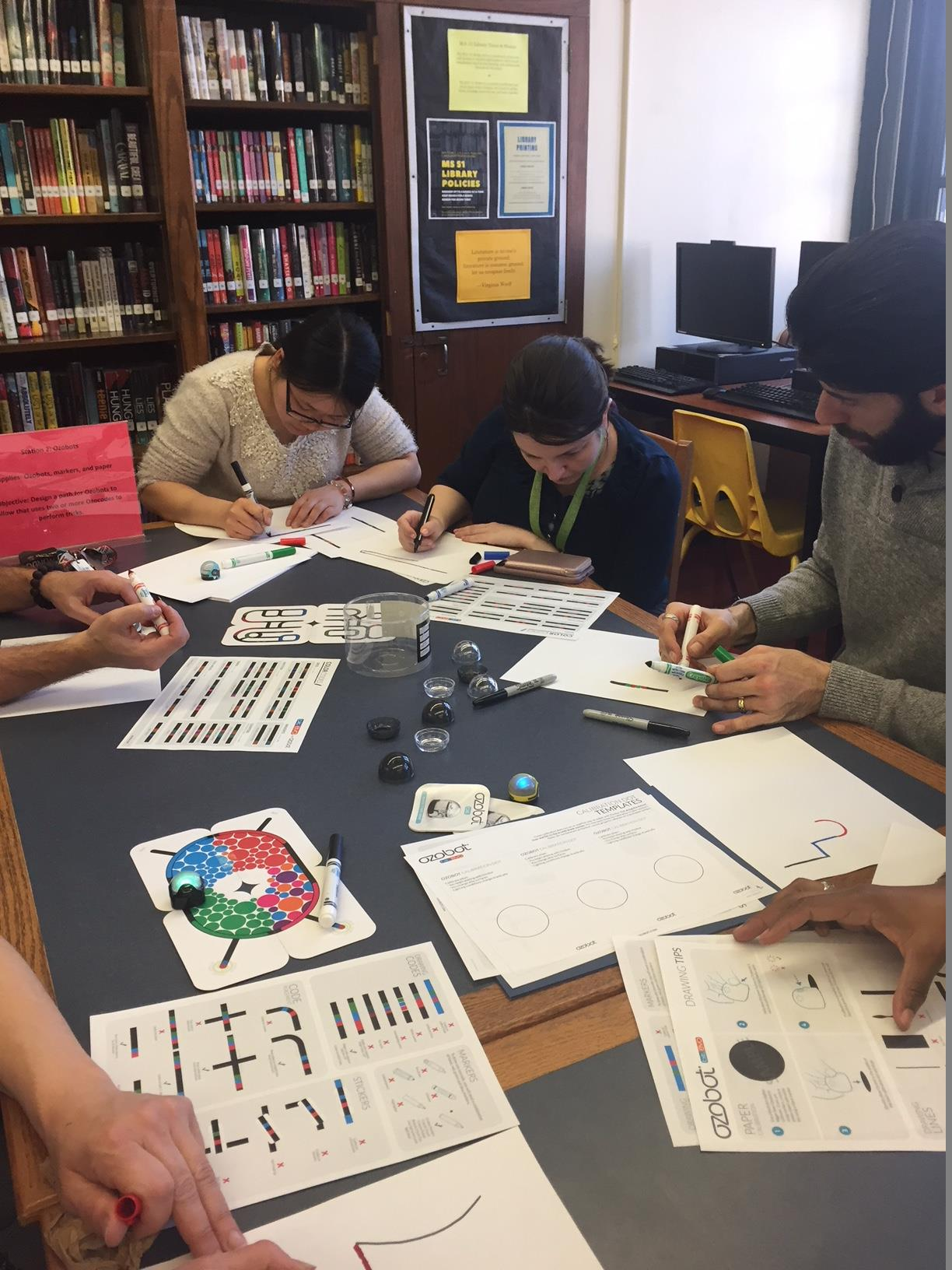 Makerspace teacher training Ozobots