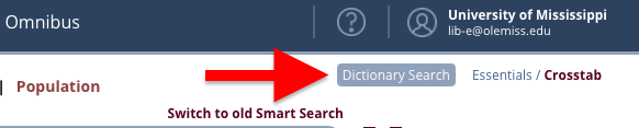 Dictionary Search button