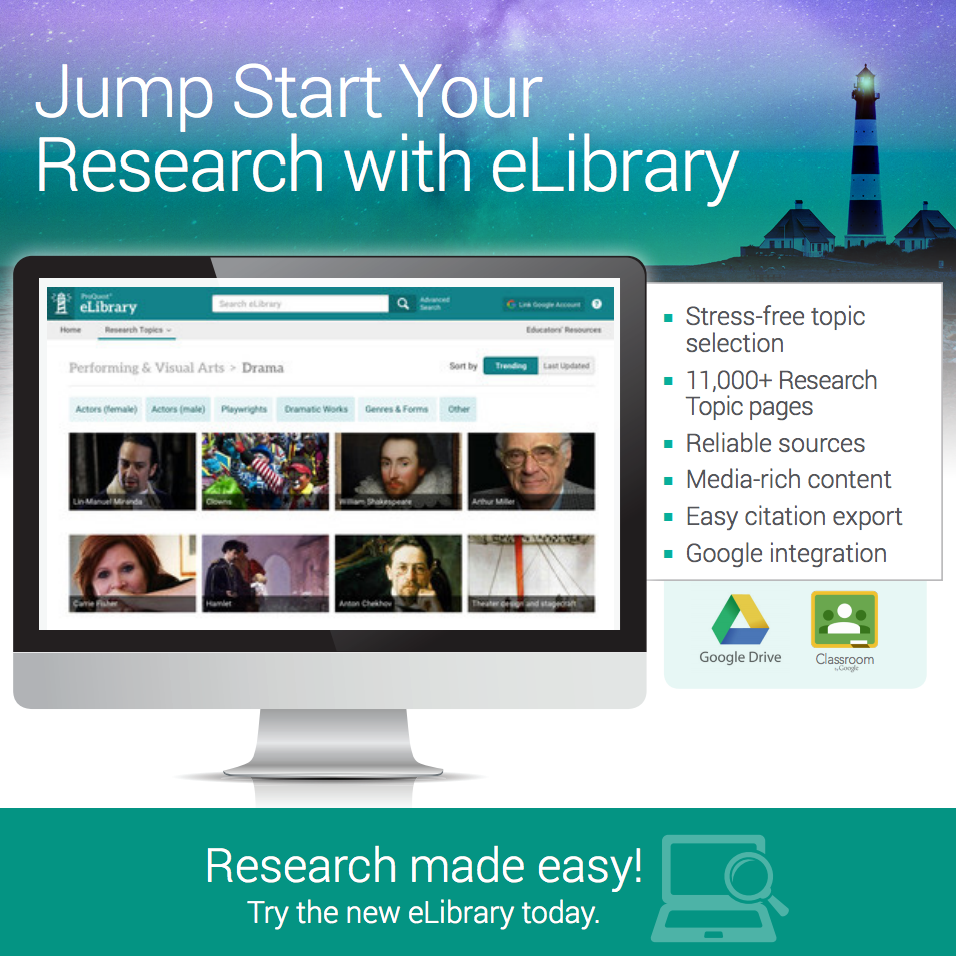 Jump Start Your Research with eLibrary