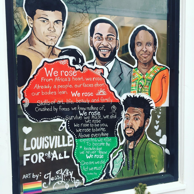 Louisville for All public art mural.