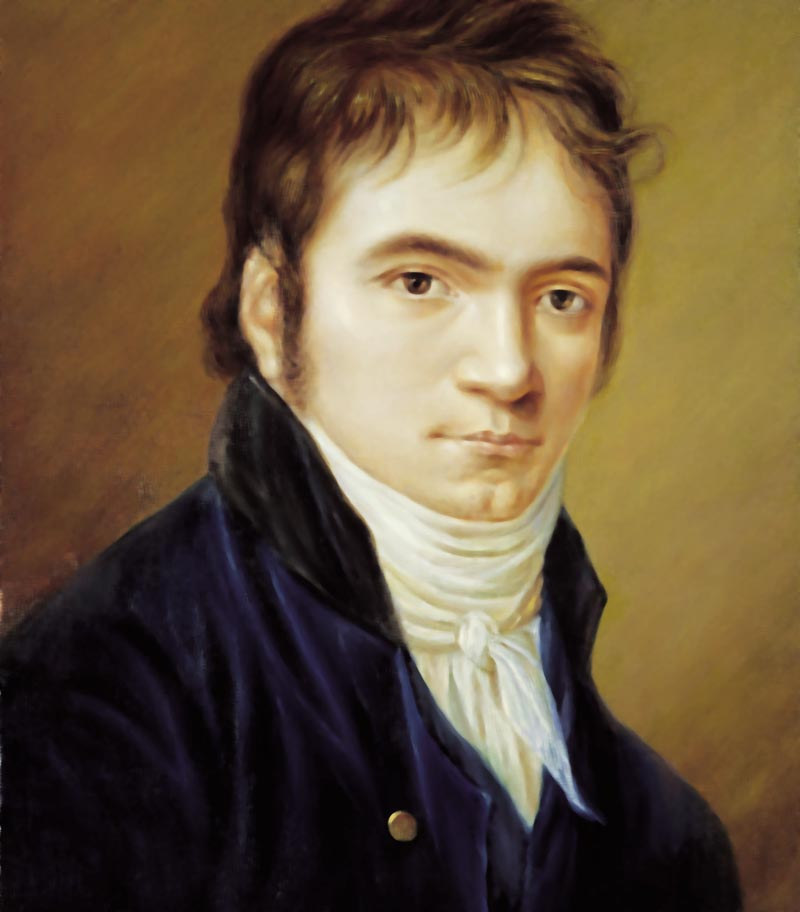 Beethoven in 1803 as painted by Christian Horneman