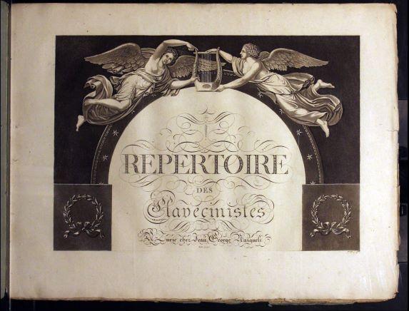 Lithograph cover from Répertoire des Clavecinistes