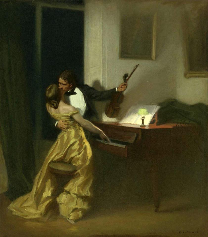 Painting by René-Xavier Prinet Depicting Tolstoy's Novella