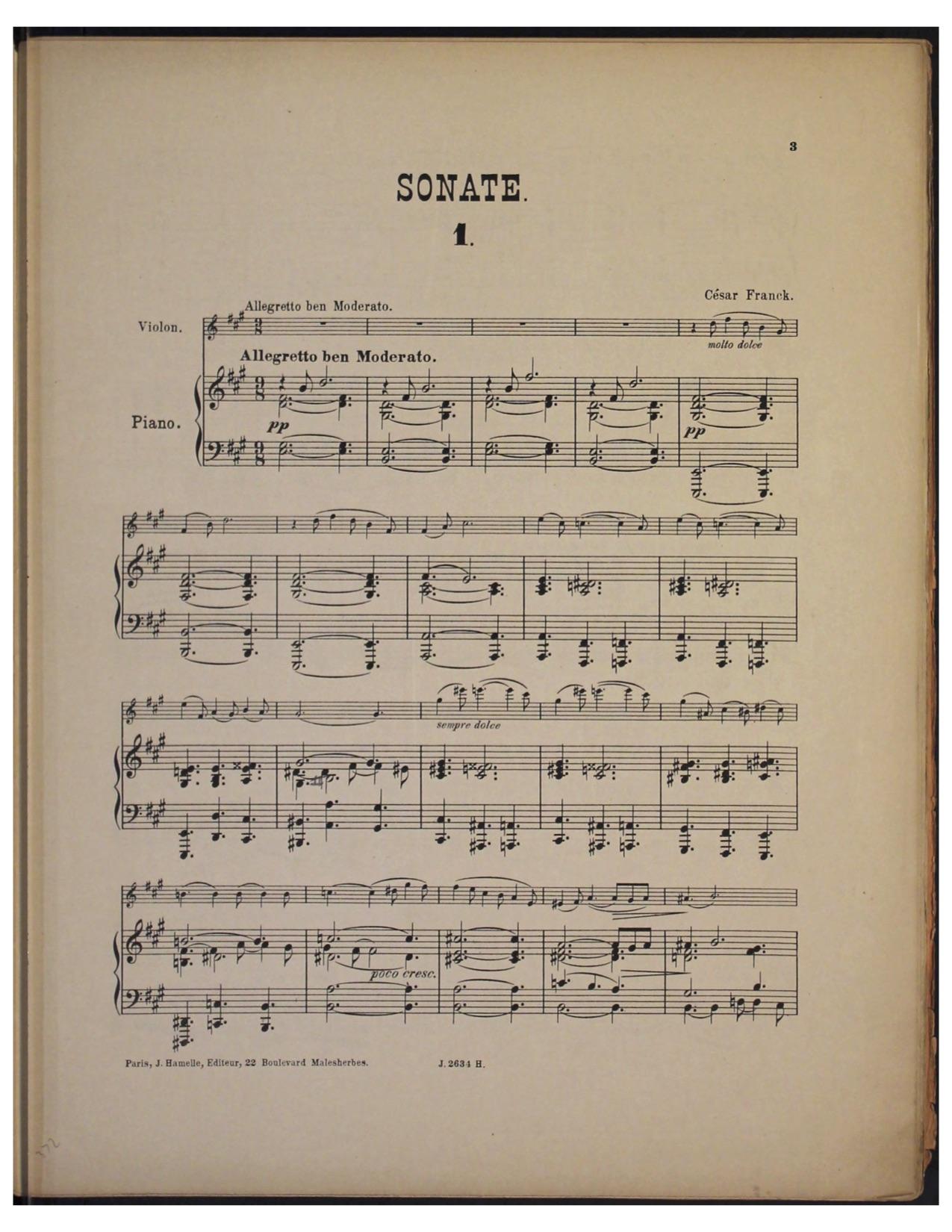 Page 1 of Franck Violin Sonata