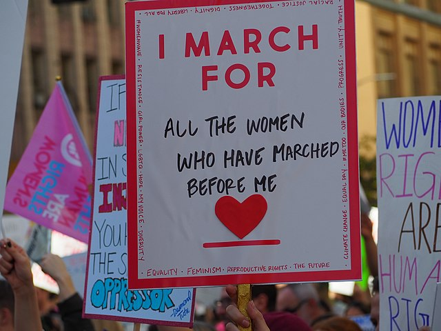The third annual Women's March LA at Pershing Square in downtown on Jan. 19, 2019.