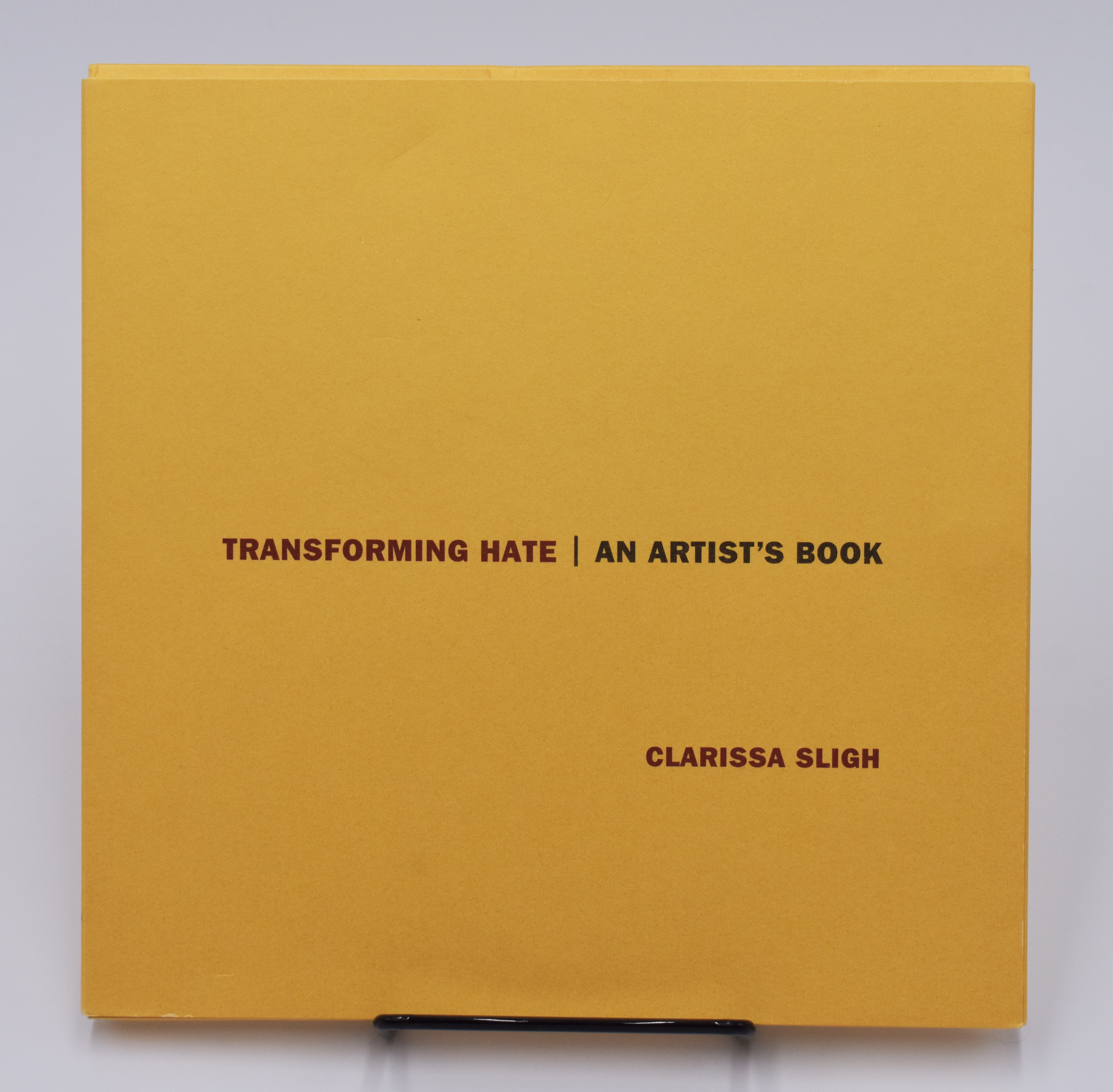 Cover of artist's book