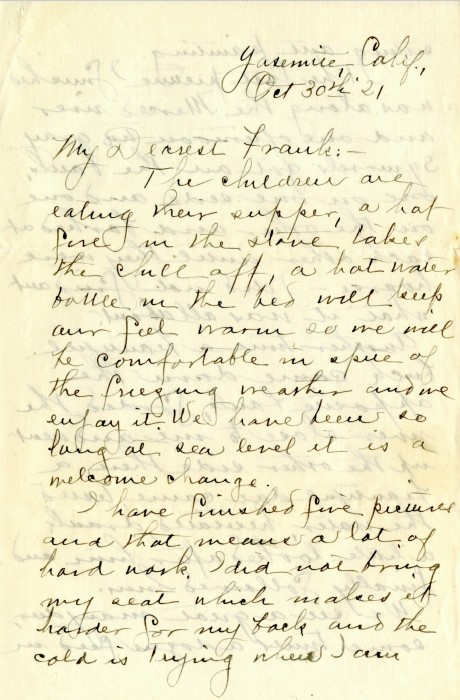 Handwritten letter from Abby Williams Hill