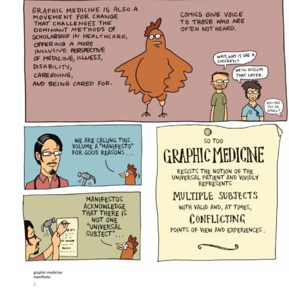Definition of graphic medicine from the Graphic Medicine Manifesto