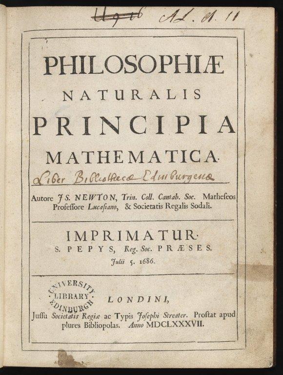 Philosophiae Naturalis Title Page