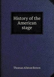 Cover art for History of the American Stage, links to record