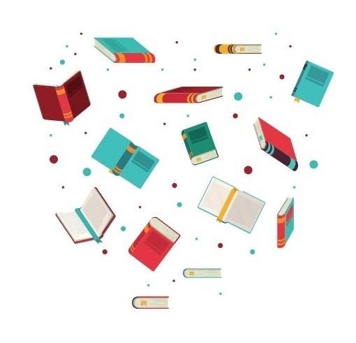 Flying books image