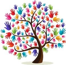 rainbow hands image