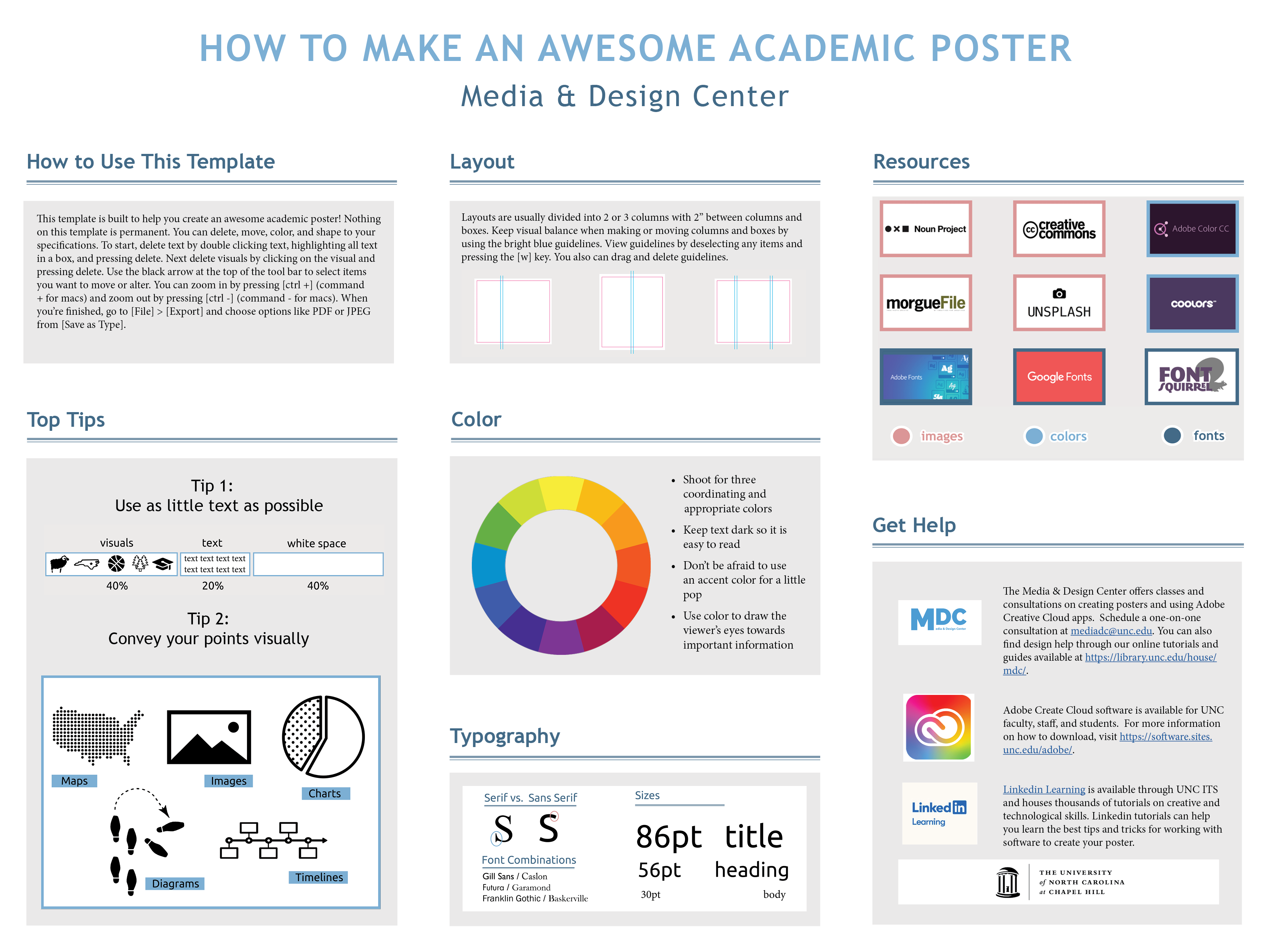 Poster template designed by MDC