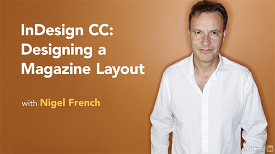 Starting Screenshot of Creating a Magazine Layout in InDesign/