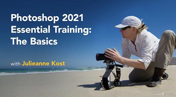 Starting Screenshot of Photoshop Essential Training
