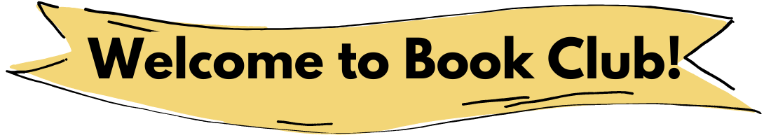 Illustrated Banner that says Welcome to Book Club!
