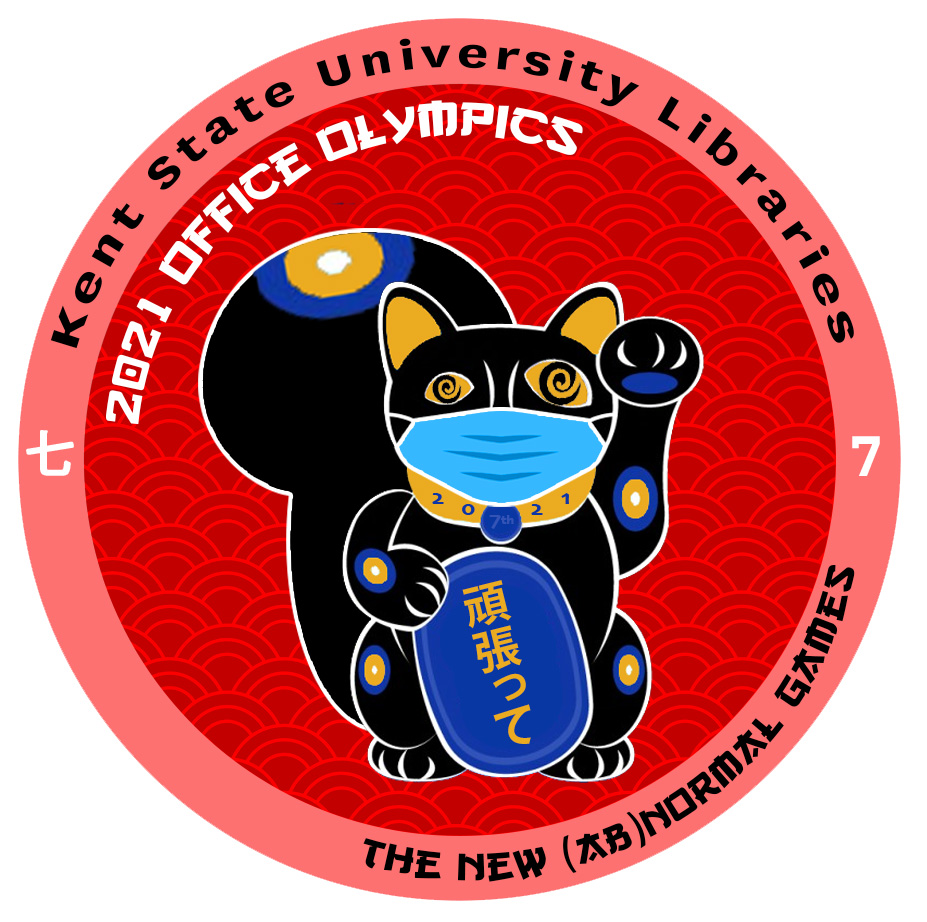 official logo of the 2021 Kent State University Libraries Office Olympics