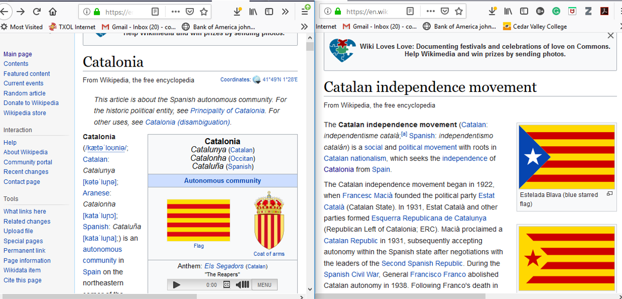 Wikipedia screenshots of the first paragraphs