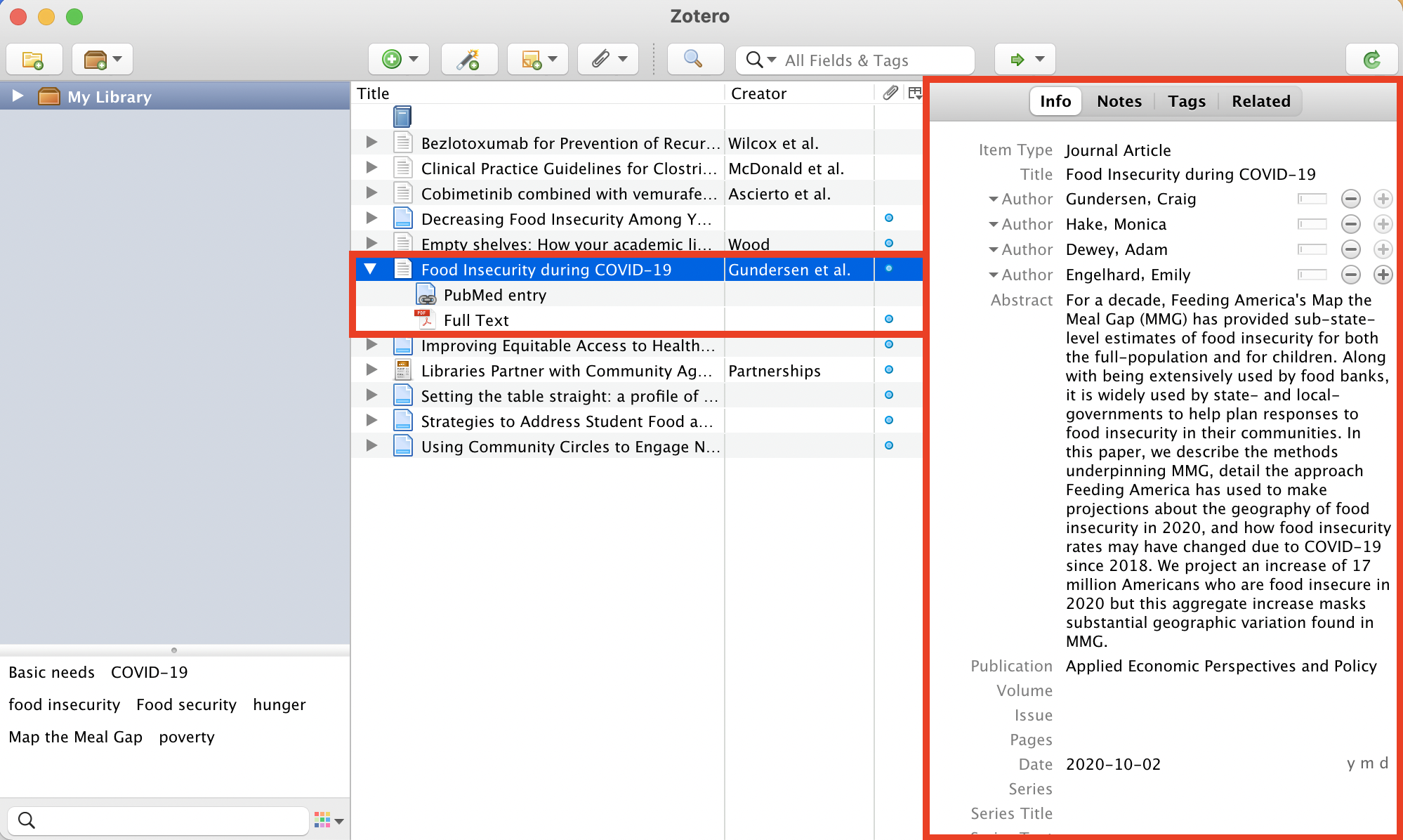 Zotero saved PDF file