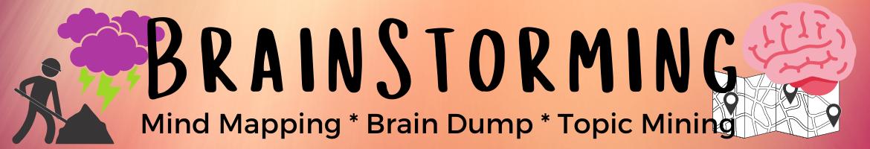 BrainStorming Header Box aka mind mapping, prain dump or topic mining