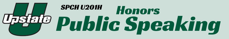 spech U201H honors public speaking