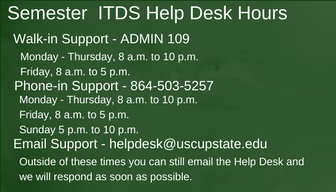 Information Technology and Data Services Help Desk Hours