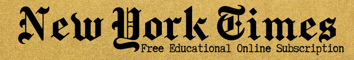 New York Times Free Educational Online subscription header image
