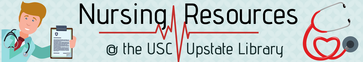 Nursing Resouces at the USC Upstate Library header box