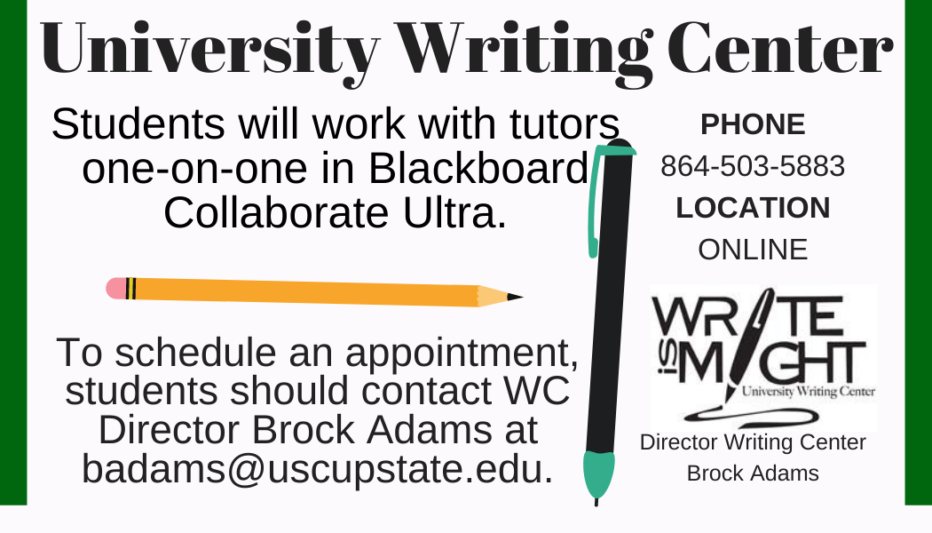 University Writing Center is Virtual this fall
