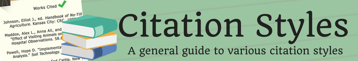 General Citation Styles Header image