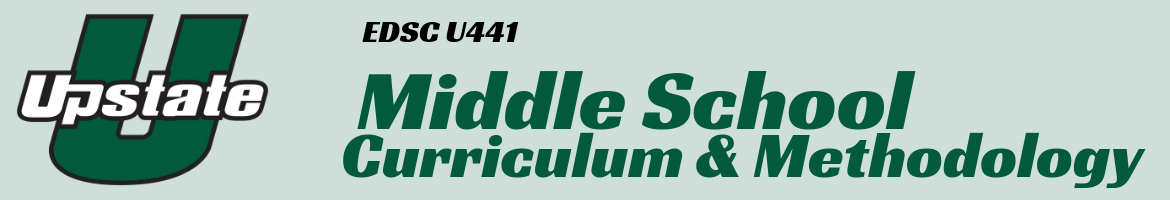 header for Middle School Curriculum & Methodology