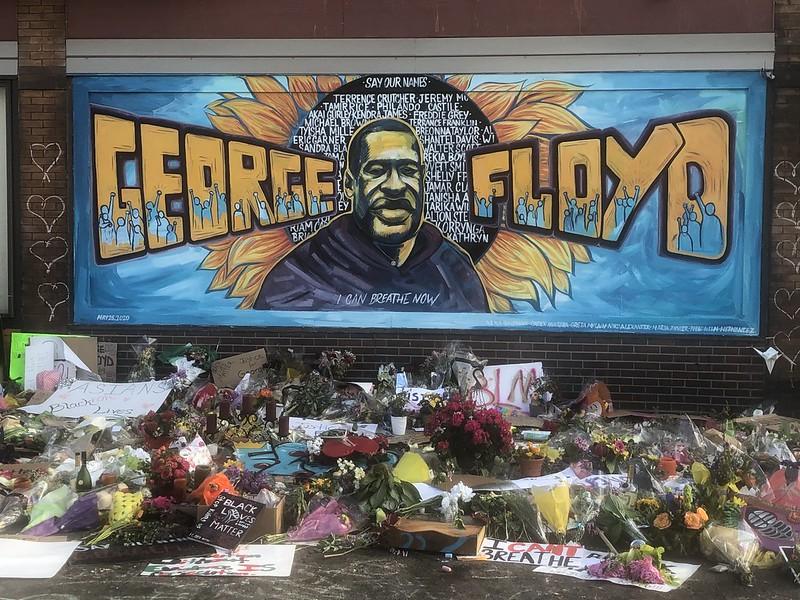 Mural of George Floyd