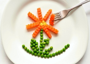 Plate of Food [ Image source, adapted from: https://pixabay.com/en/eat-carrots-peas-healthy-of-course-547511/, copied under CC0 1.0, https://creativecommons.org/publicdomain/zero/1.0/]