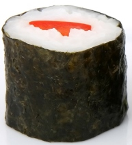 Sushi [Image source, adapted from: Sushi, https://pixabay.com/en/asian-black-chinese-cucumber-diet-1239271/, copied under CC0 1.0, https://creativecommons.org/publicdomain/zero/1.0/]