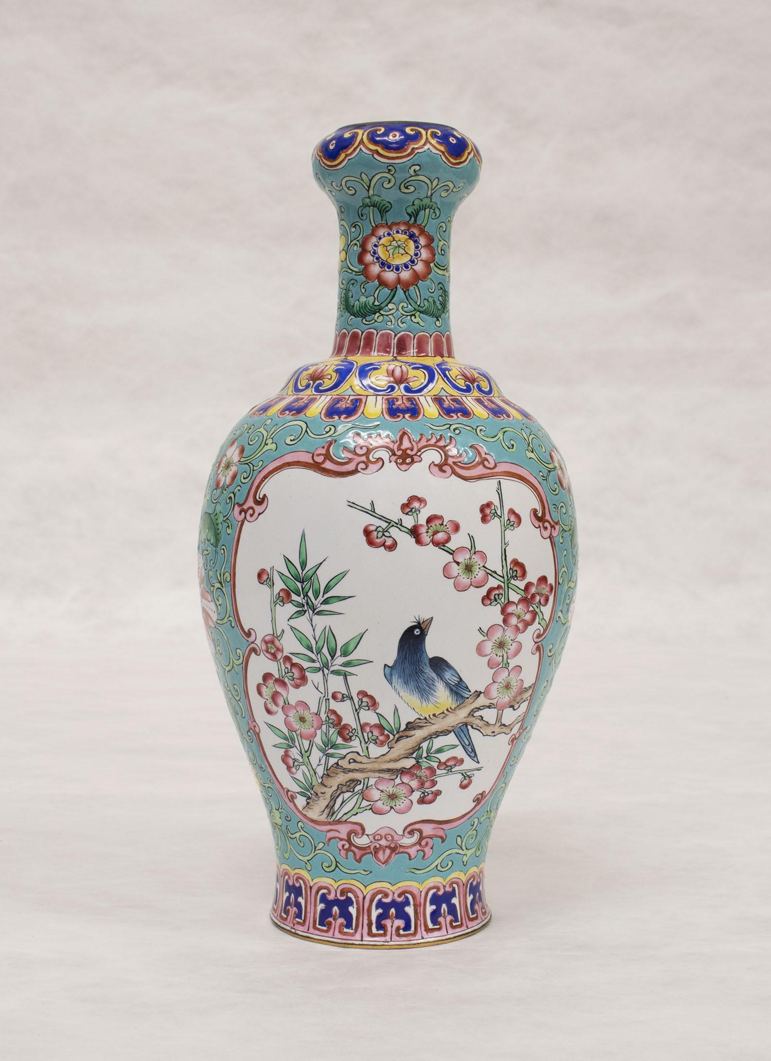 Ch'ing Dynasty Peking Enamel Vase, 19th century – Wang Fang-yu Collection of Asian Art