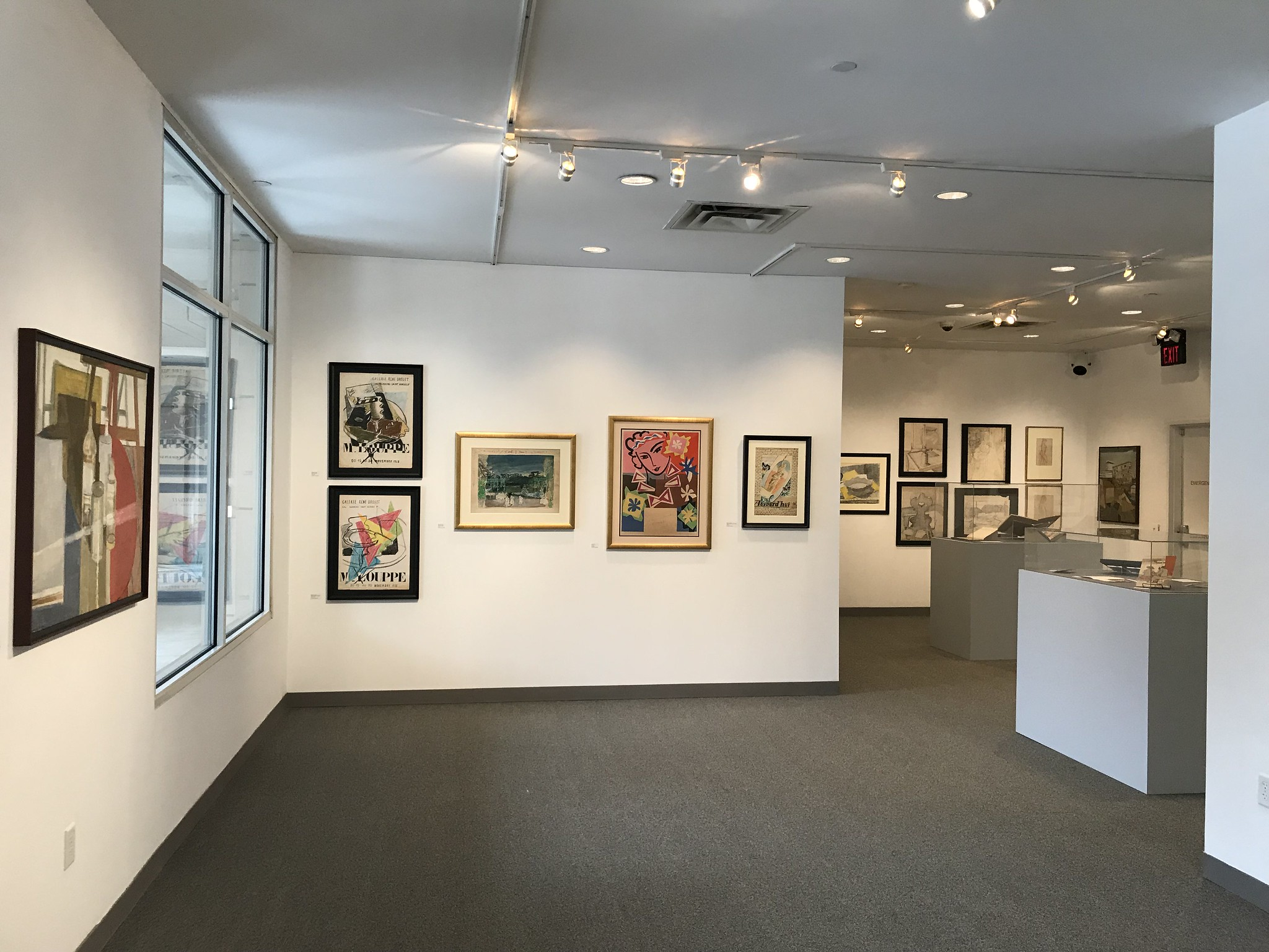 """This is the exhibition view from the show """"Marguerite Louppe and Maurice Brianchon: Mirrors of Midcentury French Culture"""""""