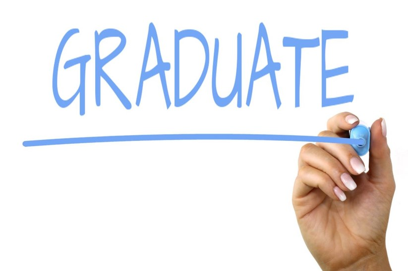 Graduate in blue ink by Nick Youngson