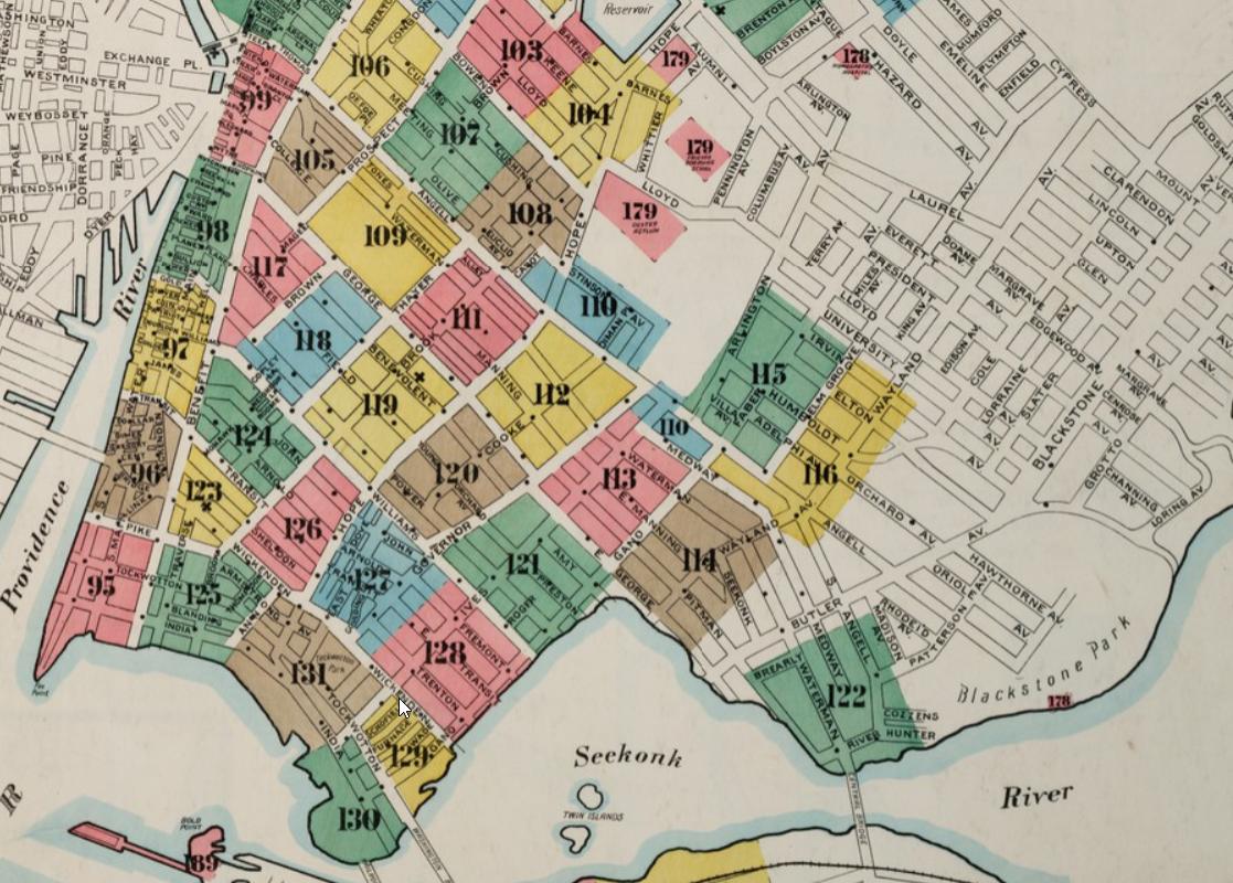 Sanborn Map East Side Providence 1899