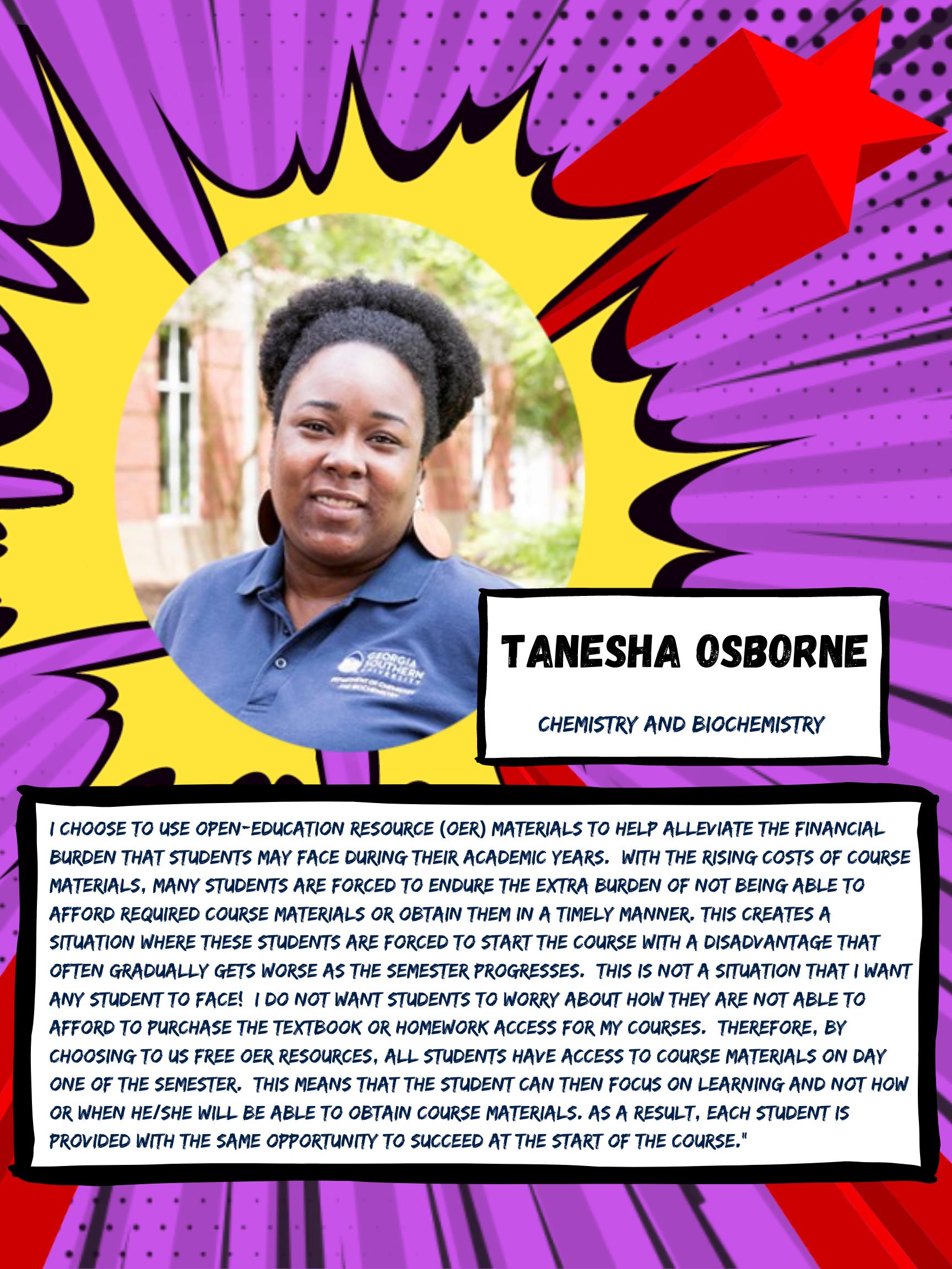 OER Heroes Tanesha Osborne