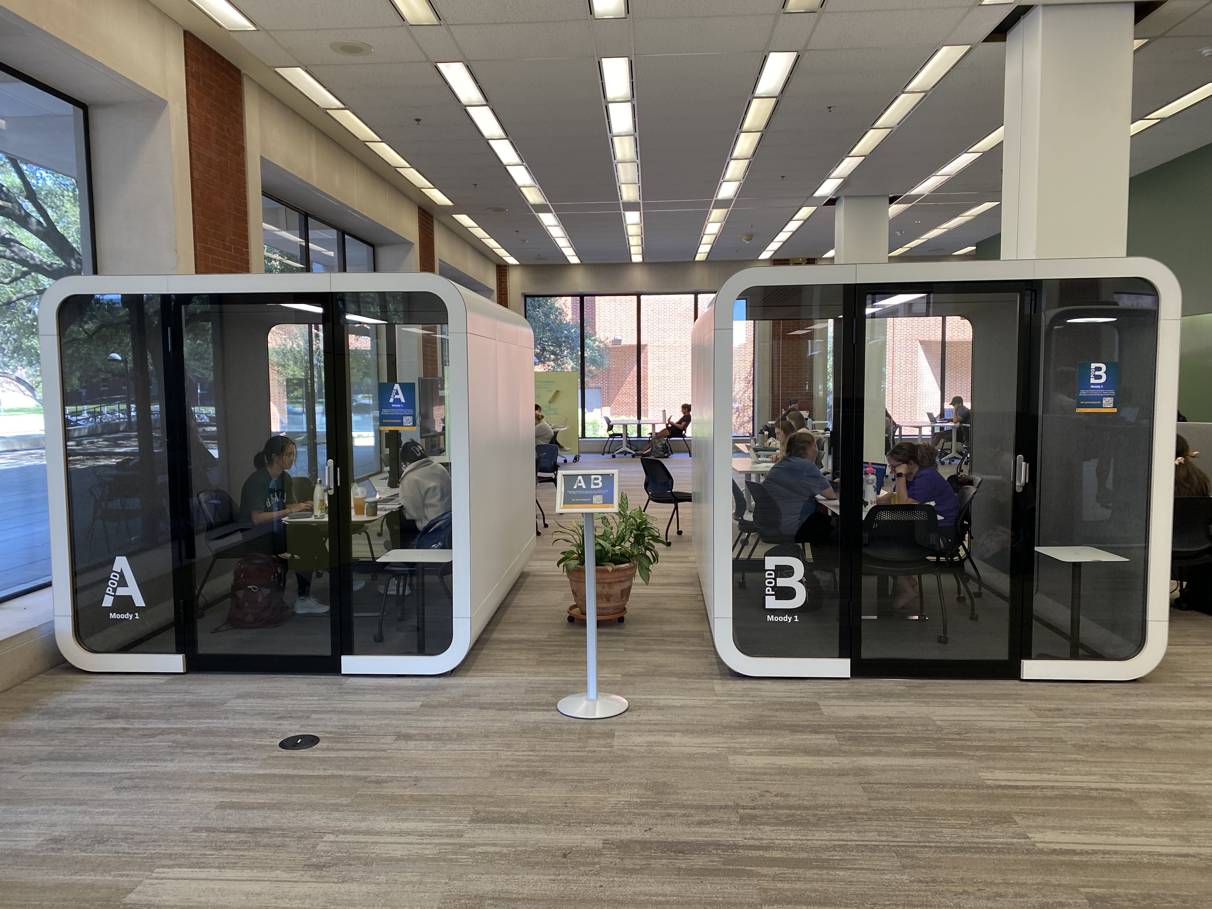 image of study pods A and B
