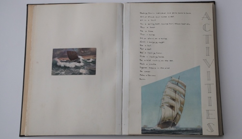 Childrens activities book - pictures show boats