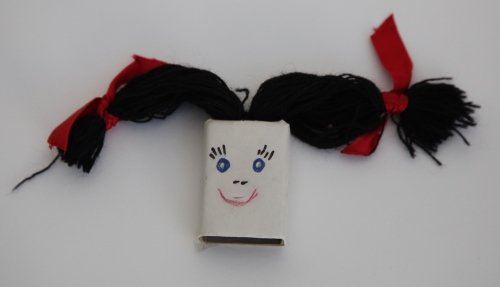 Matchbox girl finger puppet