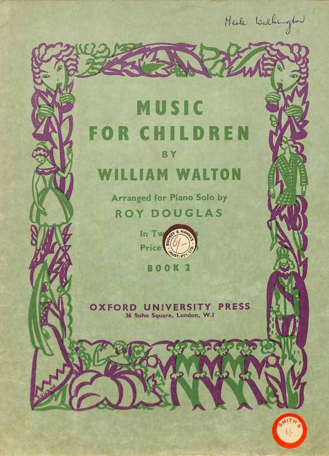 Book cover Music for Children by William Walton