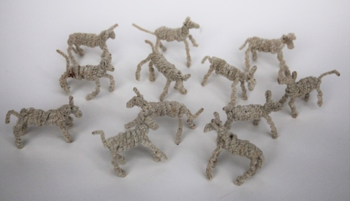 Lambs made from pipe cleaners