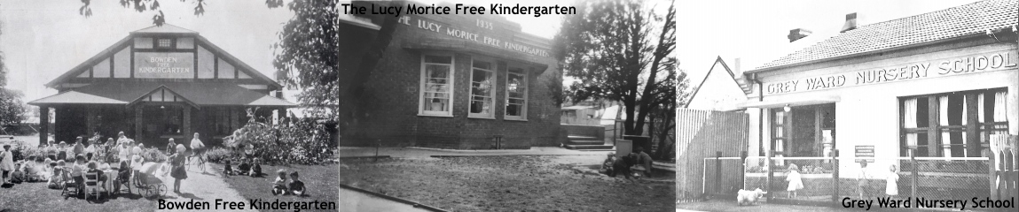 Three pictures of kindergartens