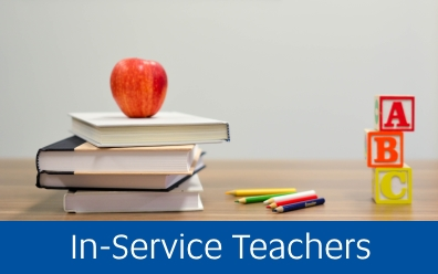 Navigate to In-Service Teachers page