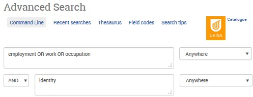 Example Advanced Search in Sociological Abstracts [Image source: ProQuest and UniSA Library]