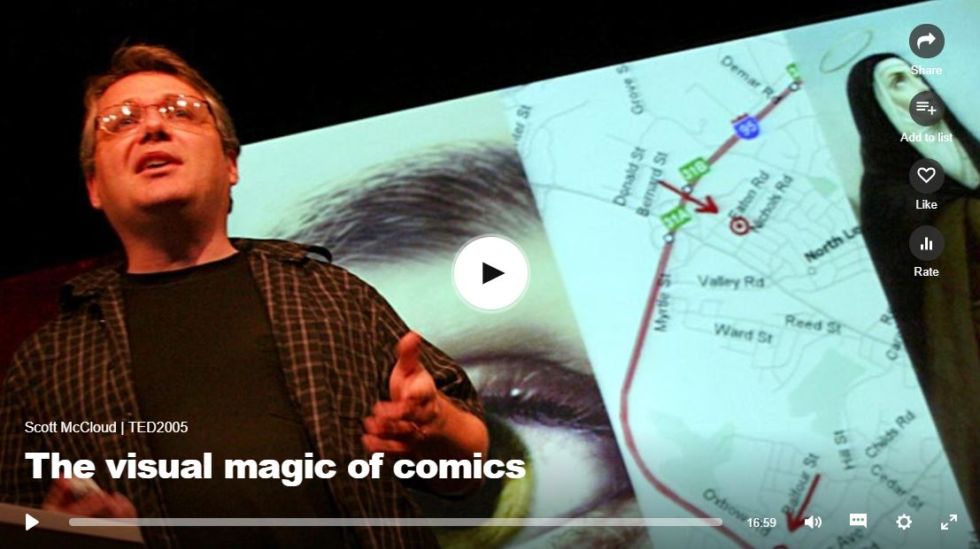 """a TED talk video """"the visual magic"""", click to listen"""