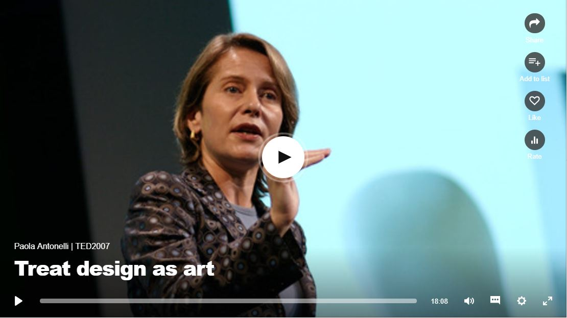 "Video titled ""treat design as Art"". Click to listen"