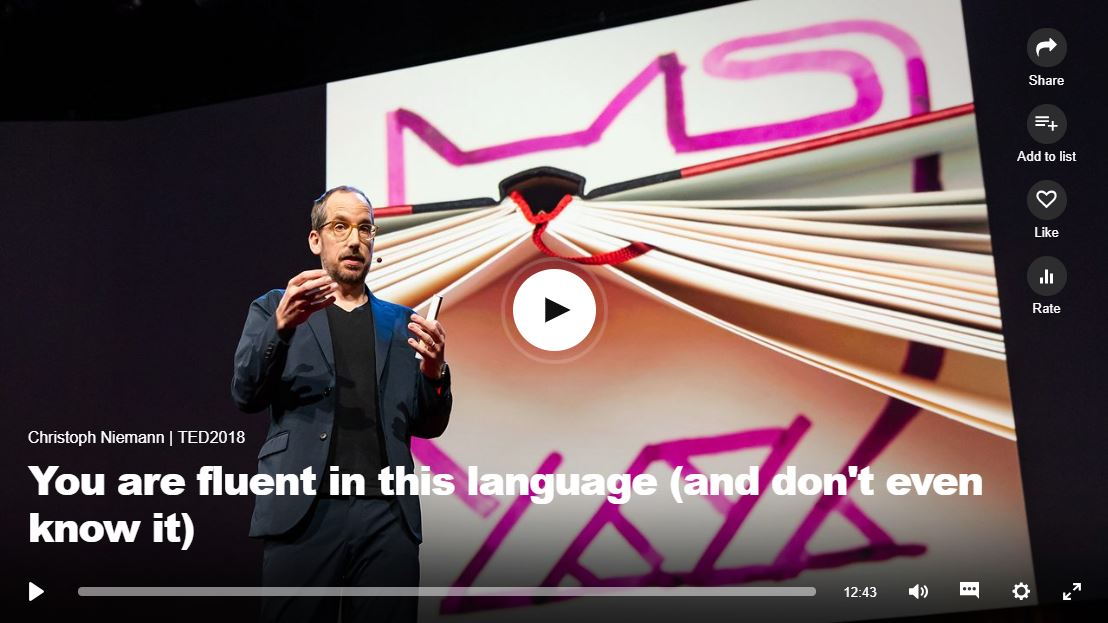 """Ted Talk video """"you're inluent in this langguage"""". Click to listen"""